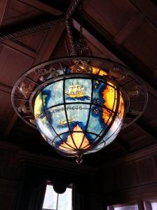 Globe chandelier, Philbrook Museum, Tulsa, Oklahoma