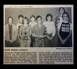 JCHS Debaters 1982